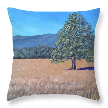 Throw Pillow featuring the painting The View by Suzanne Theis