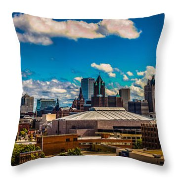 The View That Made Milwaukee Famous Throw Pillow