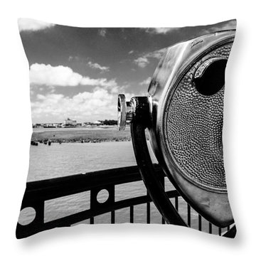 Throw Pillow featuring the photograph The Viewer by Sennie Pierson