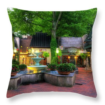 The Village Of Gatlinburg Throw Pillow