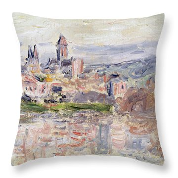 The Village Of Vetheuil Throw Pillow