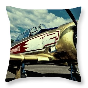 The Vintage North American T-6 Texan Throw Pillow by David Patterson