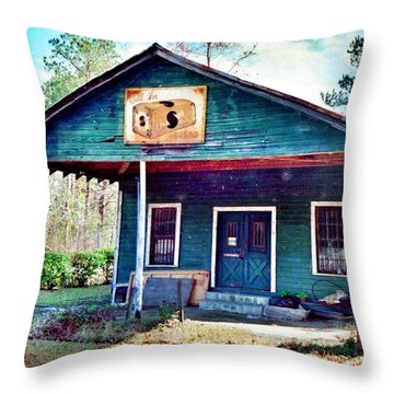 The Vintage Shop In Green Pond Throw Pillow