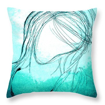 The Virgin Mary Throw Pillow