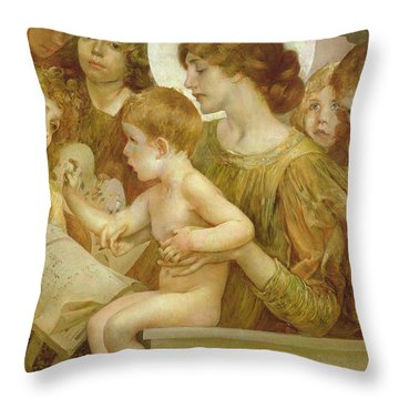 Mother Mary Throw Pillows