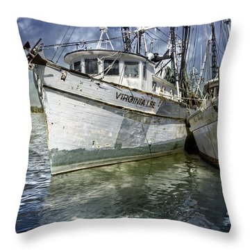 The Virginia Lee And The Miss Harley Throw Pillow by Debra and Dave Vanderlaan