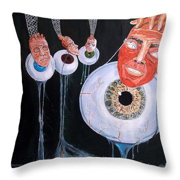 The Vision Behind The Structure Behind The Eyes Throw Pillow