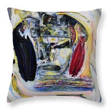 The Vision Of Ironstar Throw Pillow