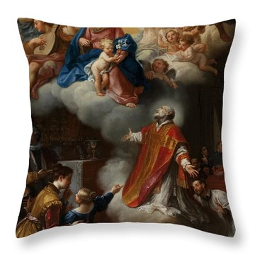 The Vision Of St. Philip Neri, 1721 Throw Pillow