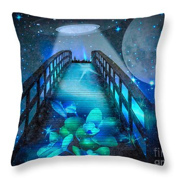 Throw Pillow featuring the digital art The Visit by Eleni Mac Synodinos