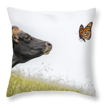The Visitor  Throw Pillow by Sheila Smart Fine Art Photography