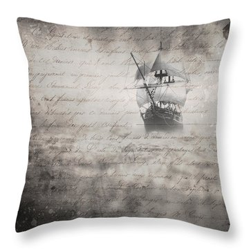 The Voyage Throw Pillow by Edward Fielding