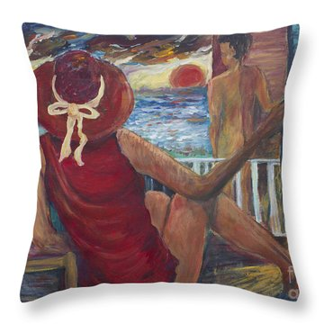 The Voyeurs Throw Pillow