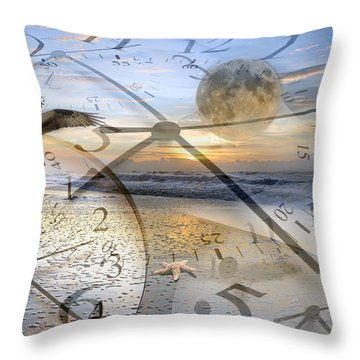 The Waiting Room Throw Pillow by Betsy Knapp