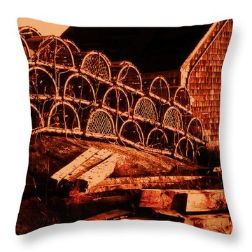 The Waiting Traps Throw Pillow by Lydia Holly