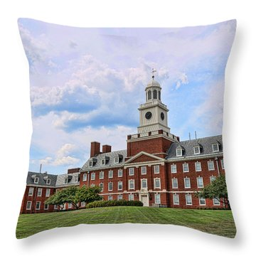 The Waksman Institute Of Microbiology Throw Pillow
