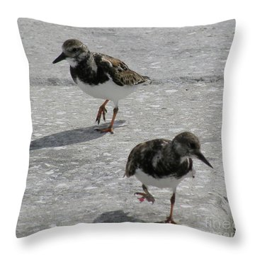 Throw Pillow featuring the photograph The Walk by Donna Brown