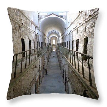 Throw Pillow featuring the photograph The Walk II by Richard Reeve