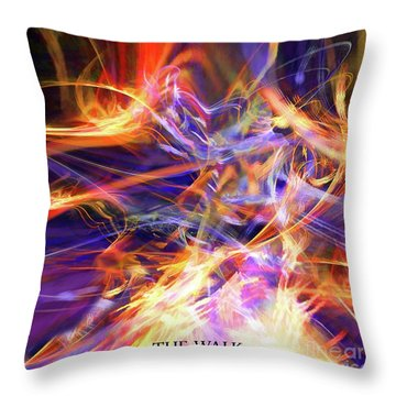 The Walk Throw Pillow by Margie Chapman