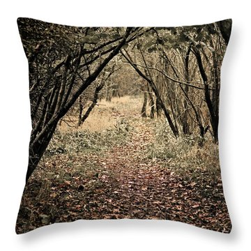Throw Pillow featuring the photograph The Walk by Meirion Matthias