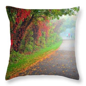 The Walk Throw Pillow by Terri Gostola