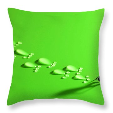 The Walker And Footprints Little People Big World Throw Pillow by Paul Ge