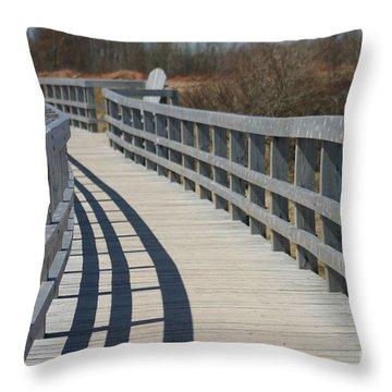The Walkway Throw Pillow