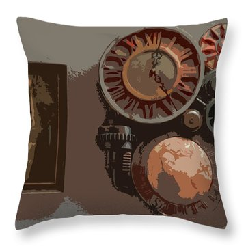 The Wall Clock Throw Pillow