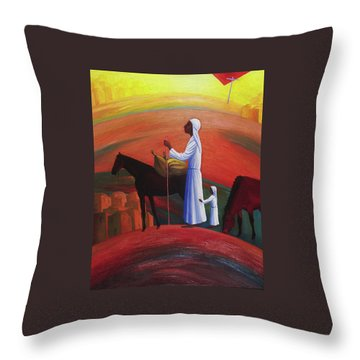 The Wandering Mary Magdalene Throw Pillow