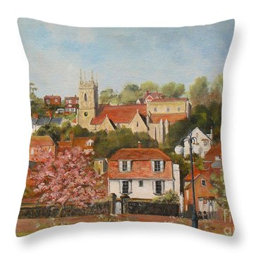 The War Memorial Hythe Throw Pillow