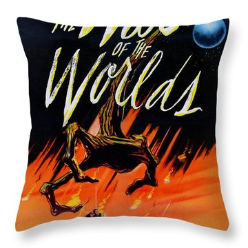 The War Of The Worlds Throw Pillow by Georgia Fowler