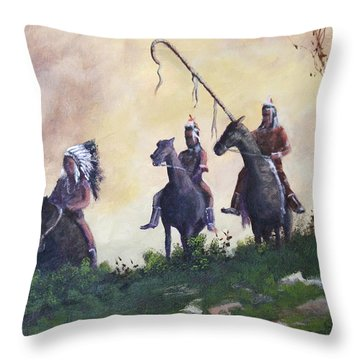 The War Party Throw Pillow