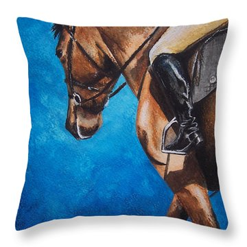 The Warm Up Throw Pillow