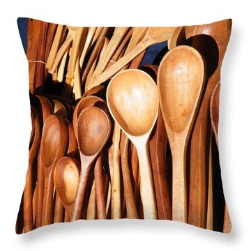 Throw Pillow featuring the photograph The Warmth Of Spooning by Brian Boyle