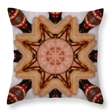 The Warrior Throw Pillow by Faye Symons