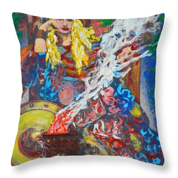 The Warrior Queen Throw Pillow by Alys Caviness-Gober