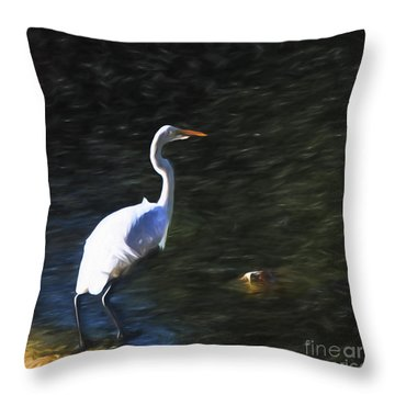 Throw Pillow featuring the photograph The Watcher  ... by Chuck Caramella