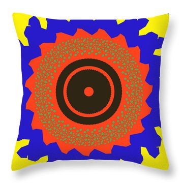 The Watcher Throw Pillow by Claudia Ellis