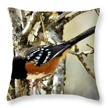 Throw Pillow featuring the photograph The Watcher by Julia Hassett