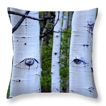 The Watcher Throw Pillow by Lanita Williams