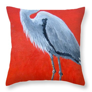 Throw Pillow featuring the painting The Watcher by Suzanne Theis