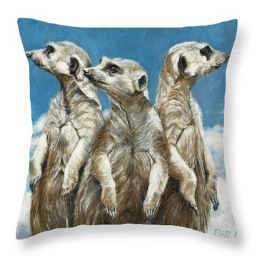 The Watchers Throw Pillow