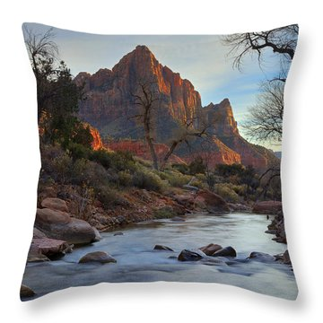 The Watchman In Winter-2 Throw Pillow