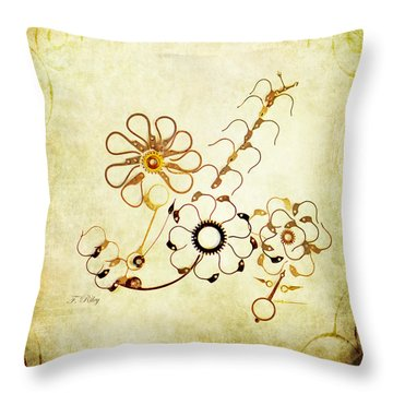 The Watchmans Flower Throw Pillow by Fran Riley