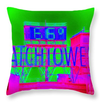 The Watchtower Throw Pillow by Ed Weidman