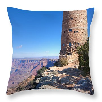 Throw Pillow featuring the photograph The Watchtower by John M Bailey