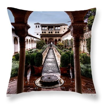 The Water Gardens Throw Pillow