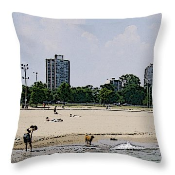 Throw Pillow featuring the photograph The Water Is Mesmerizing by Skyler Tipton