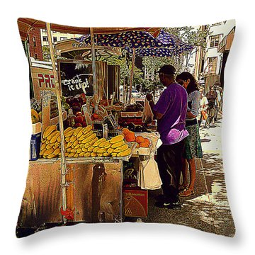 Throw Pillow featuring the photograph The Water Jug by Miriam Danar