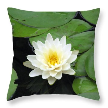 Throw Pillow featuring the photograph The Water Lilies Collection - 01 by Pamela Critchlow